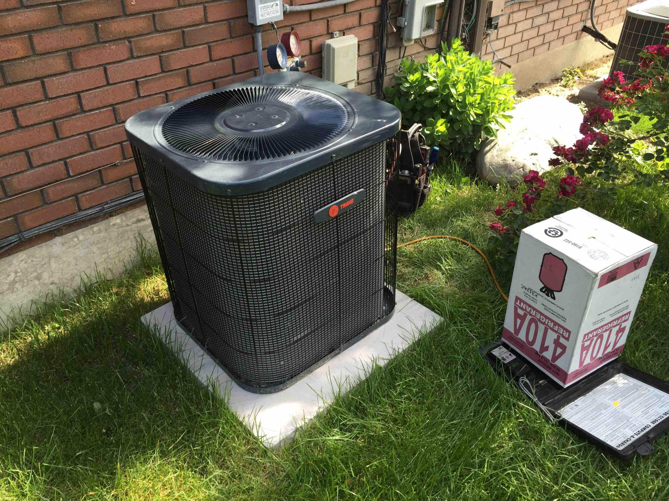 Cottonwood Heights, UT - set up new Trane air conditioner