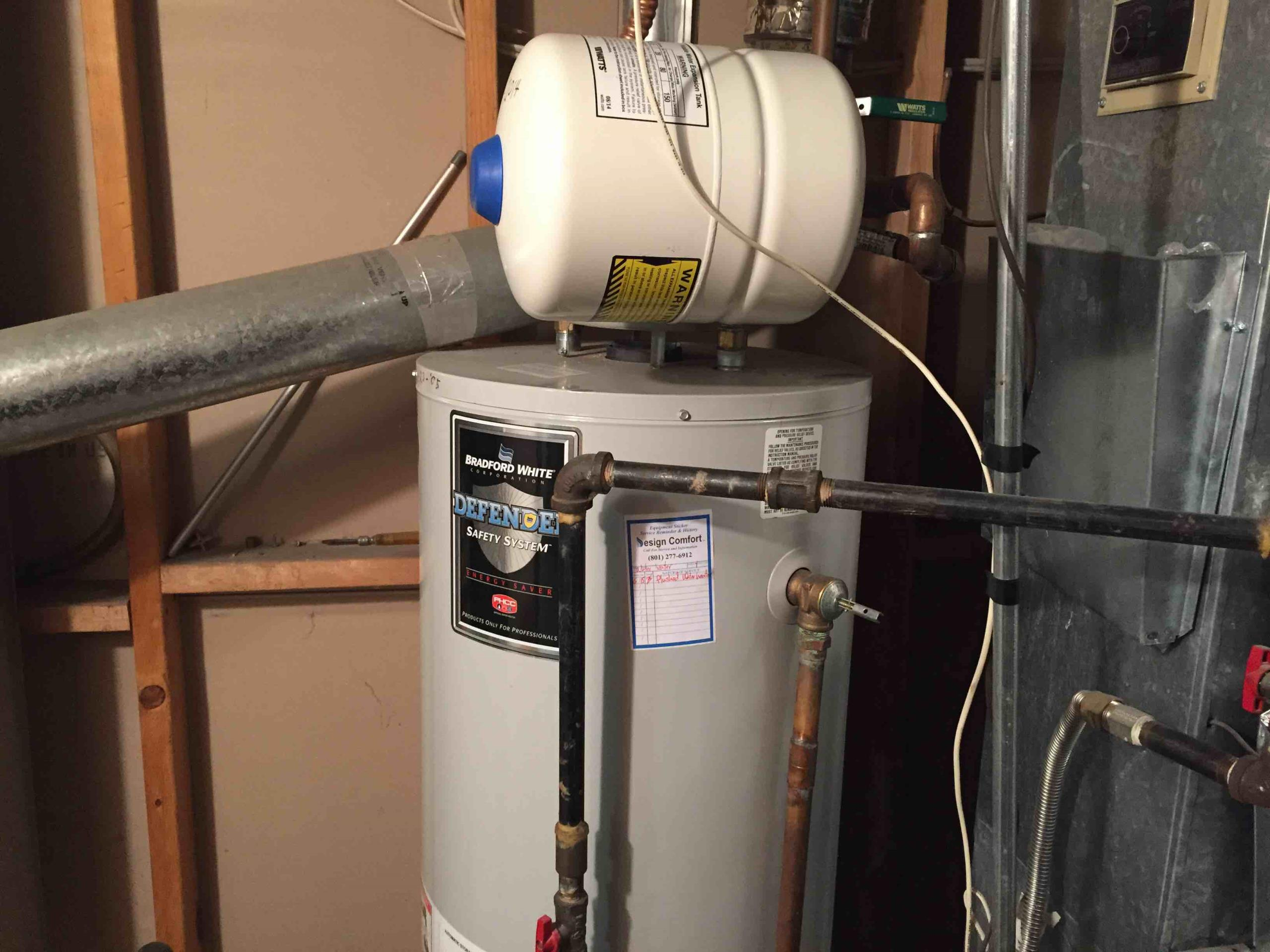 Millcreek, UT - power flushed water heater to reduce piping noise