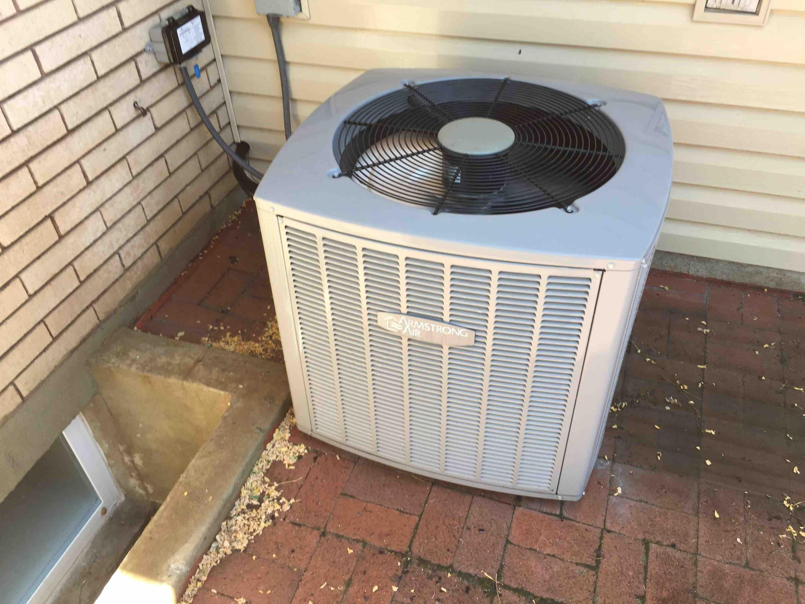 Cottonwood Heights, UT - servicing an Armstrong Air Conditioner