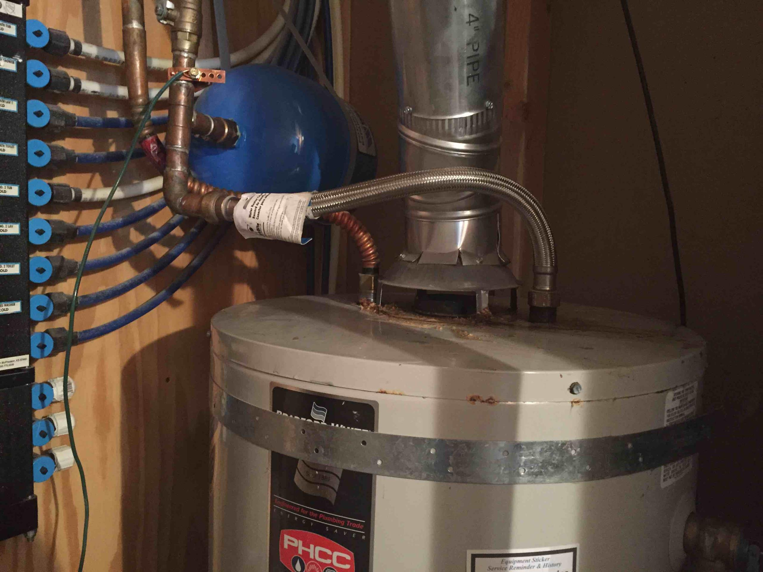 Draper, UT - replaced leaking connection to a Bradford White water heater