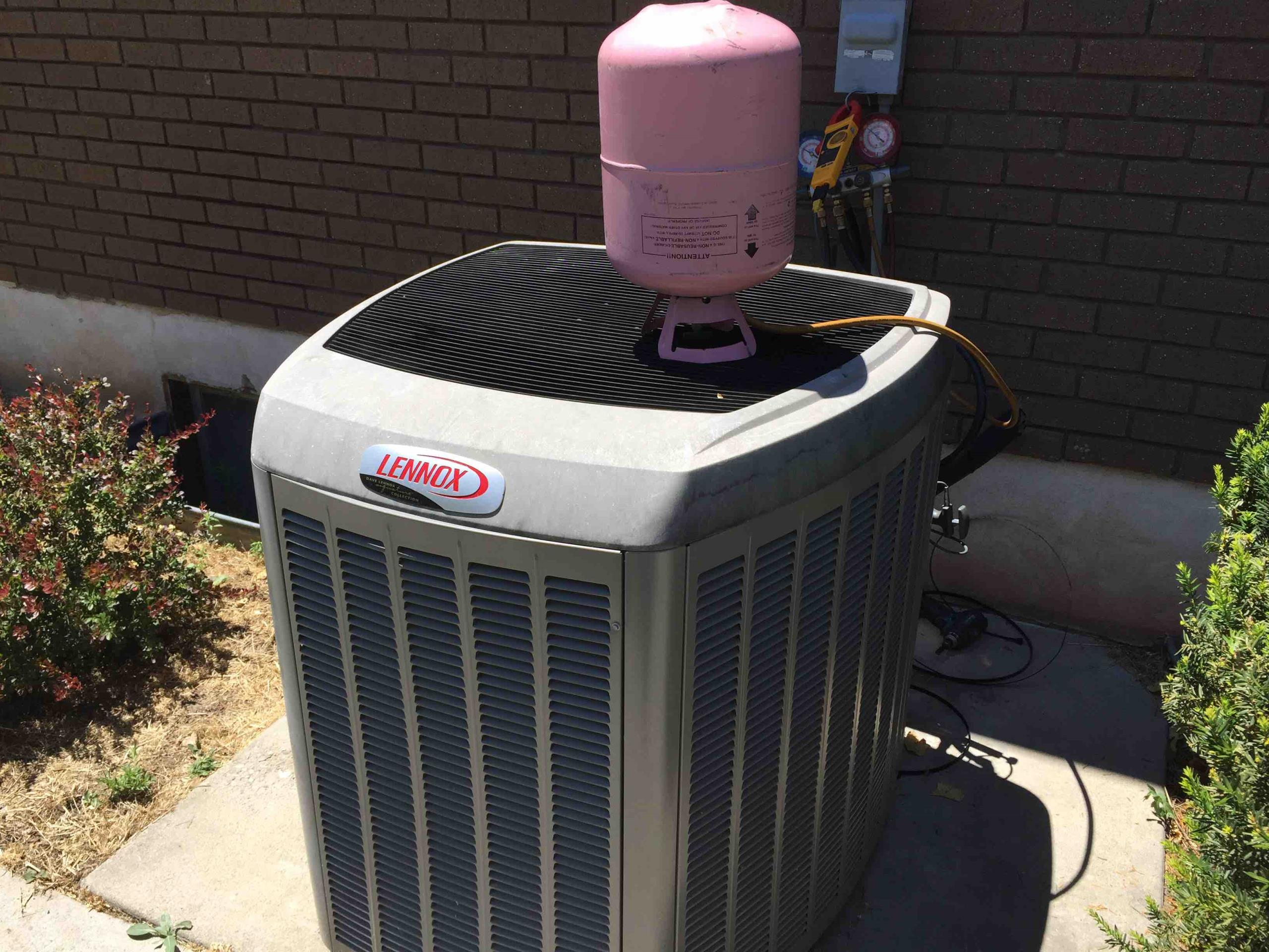 Sandy, UT - fixed leak and recharged Lennox air conditioner