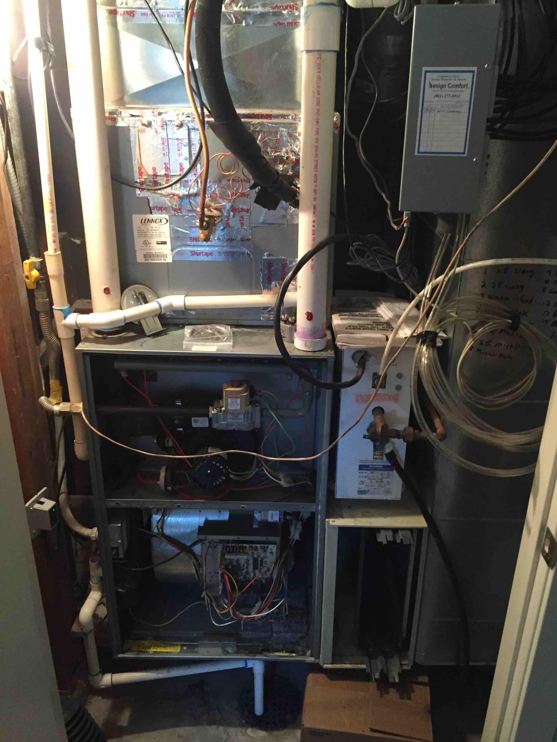 Salt Lake City, UT - servicing a Rheem furnace and steam humidifier