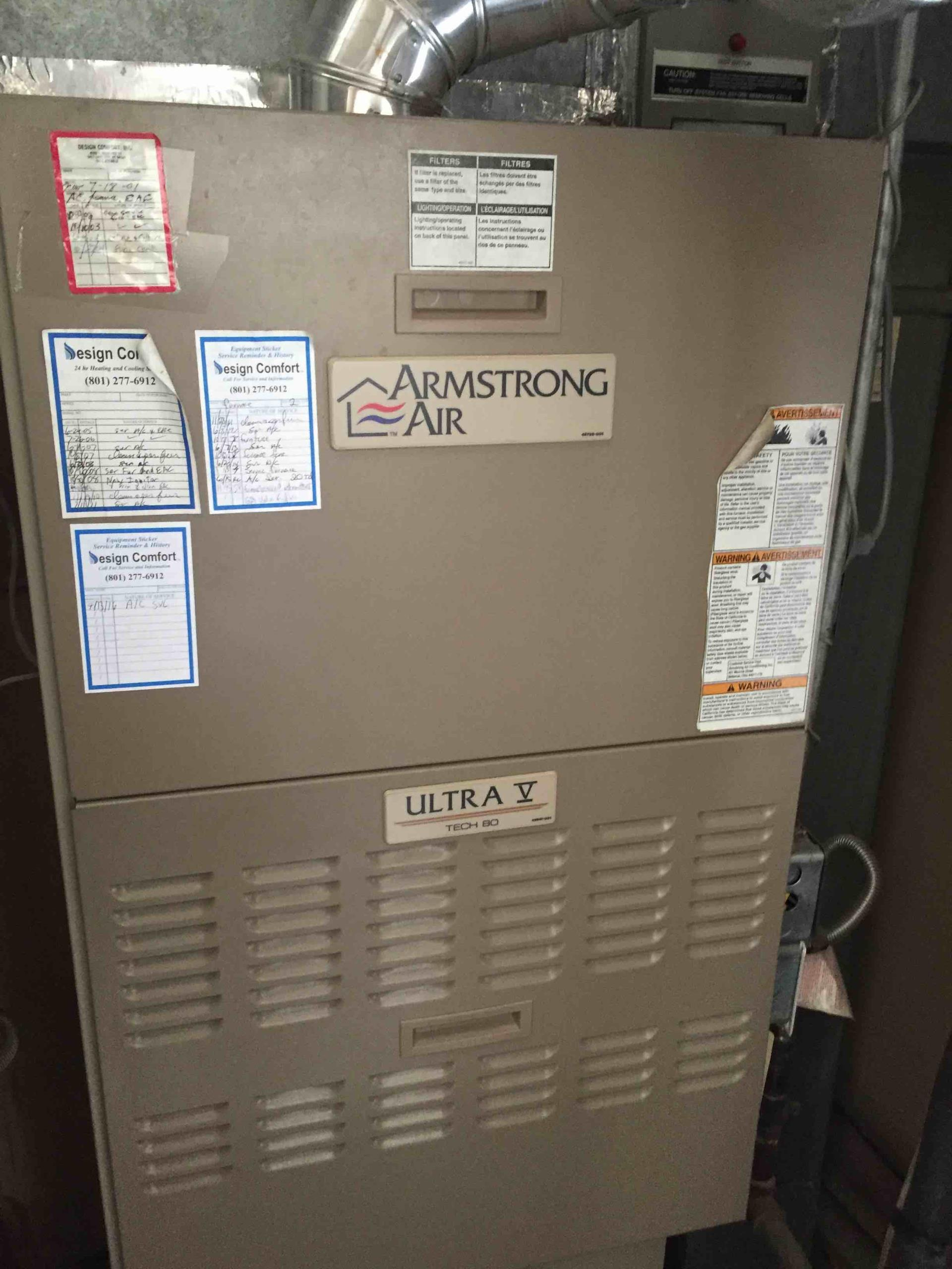 Holladay, UT - servicing Armstrong equipment in customers home