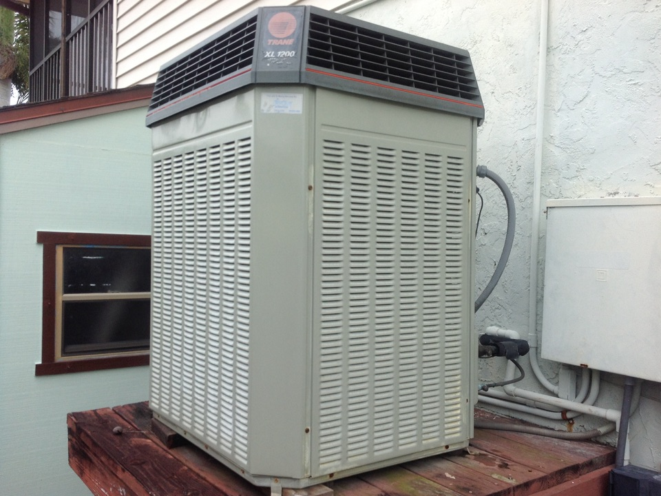 Matlacha, FL - Performing a tune up on a Trane air conditioning system