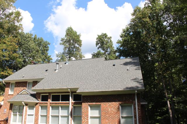 Hillsborough, NC - Complete roof replacement on this 4413 sq. ft. property with CertainTeed Landmark in Slate