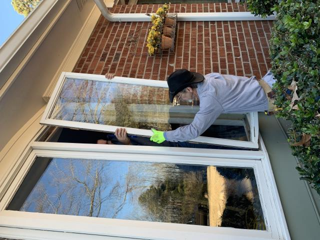 Cary, NC - start of window removal for this Cary property and installing 10 large fixed windows