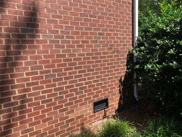 Dalton, GA - Today I am in Dalton Ga for a home in need of foundation repair for a stair stepping crack on the interior of the basement foundation and the exterior.