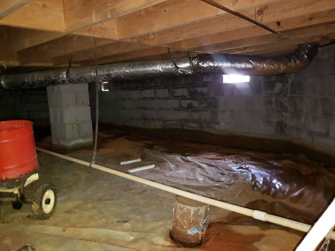 Buckhead, GA - Estimating Crawlspace Drainage and Encapsulation for new homeowners in Buckhead, Georgia.