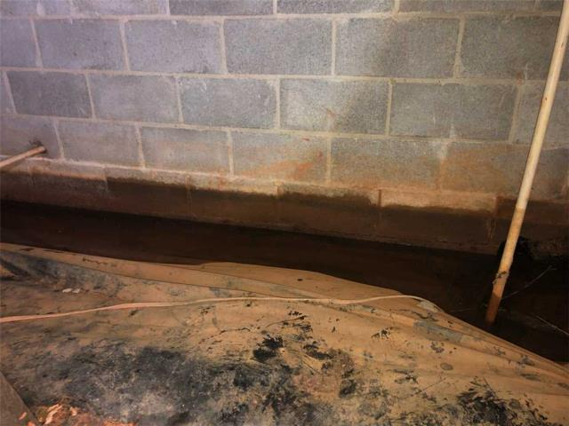 Eatonton, GA - Inspection today in crawlspace with a lot of water