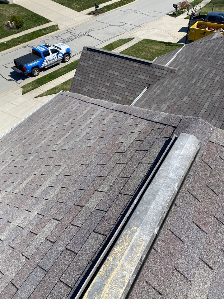 Fishers, IN - Inspecting home for hail damage