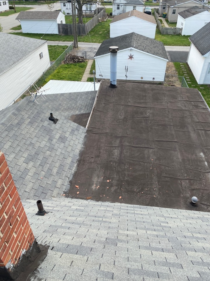 Speedway, IN - Inspecting roof