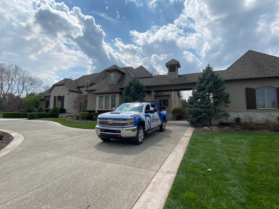 Fishers, IN - Inspecting property for hail damage