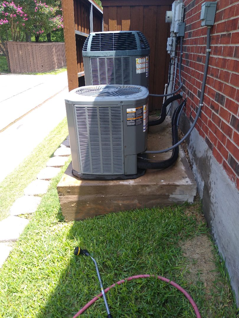 Richardson, TX - AC maintenance on two Trane systems in Plano