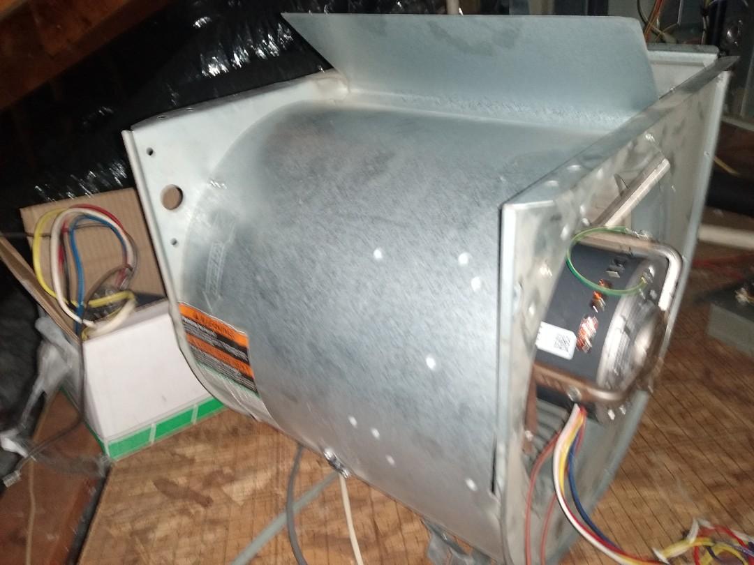 Carrollton, TX - Replaced bad blower motor on a Trane system in Carrollton