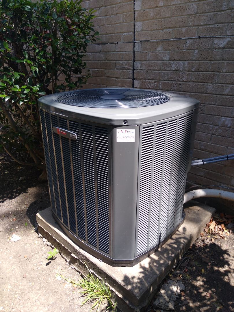 Serviced a Trane system in The Colony