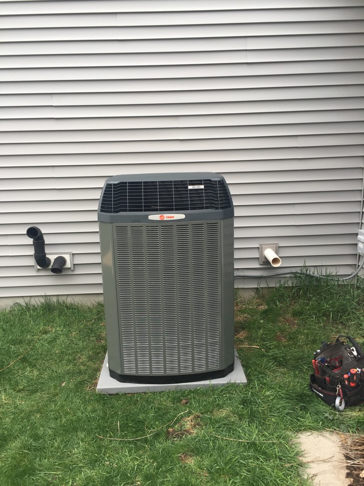 Saint Michael, MN - Install new Trane xl16i 16 seer central air conditioner