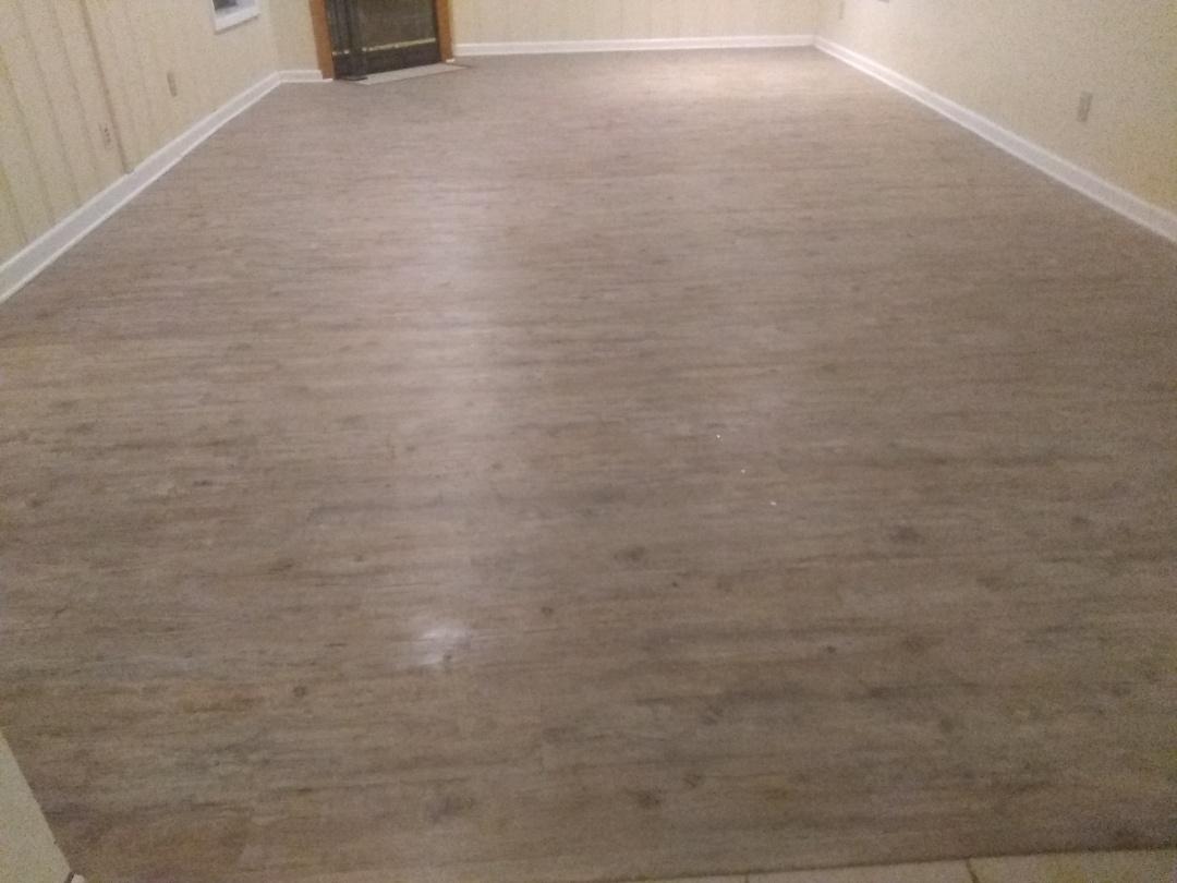 Pensacola, FL - Replaced glue down flooring.