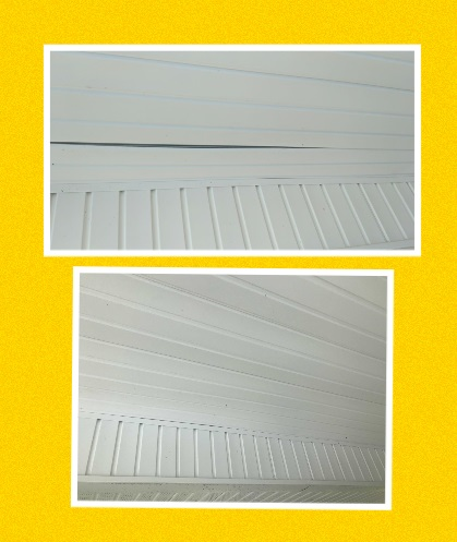 Cantonment, FL - Repaired vinyl soffit on the back porch.