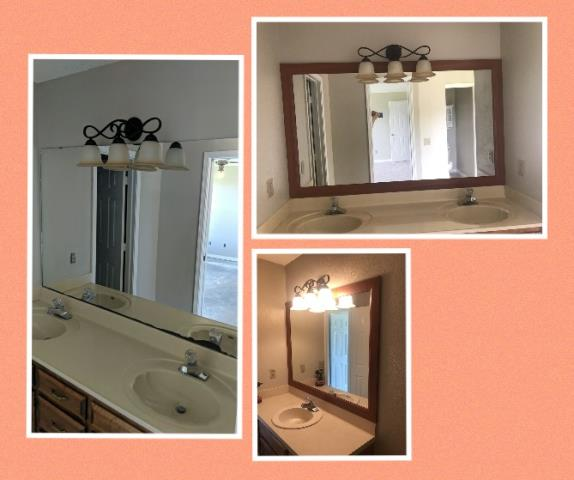 Molino, FL - Installed decorative trim around bathroom vanity mirrors.