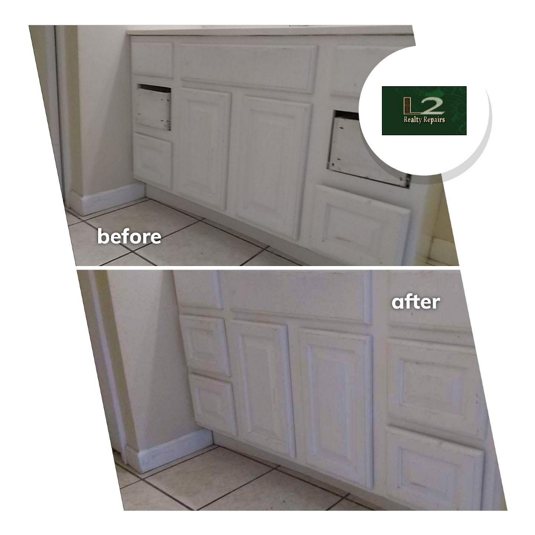 Milton, FL - Repaired, textured, and painted a few spots of drywall. Painted interior doors. Debris removal.