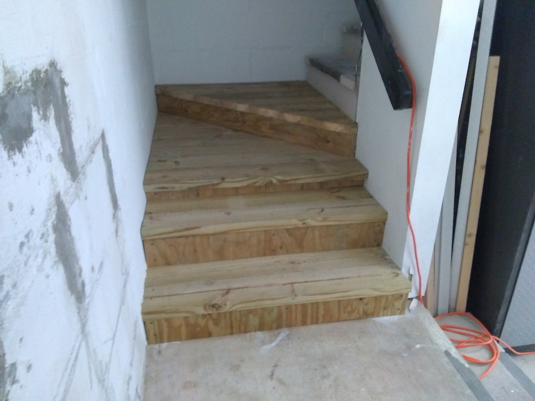 Repaired rotten staircase