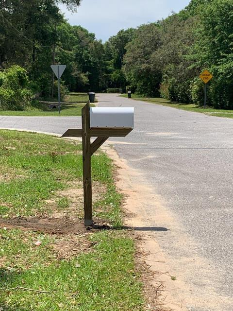 Installed new post mailbox.