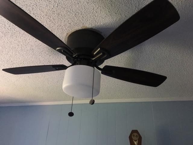 Replaced ceiling fans.