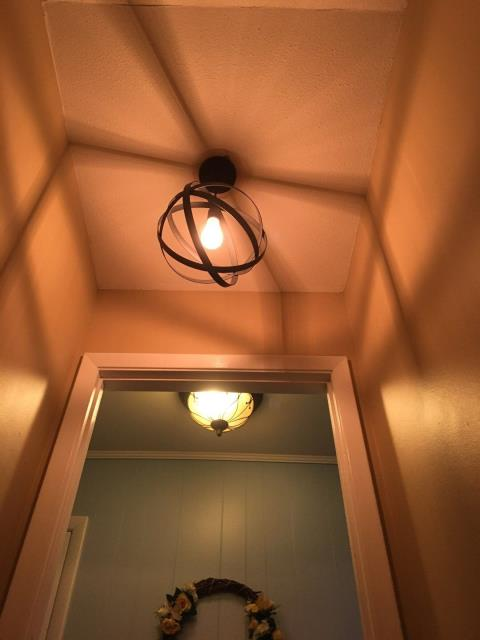 Installed light fixture.