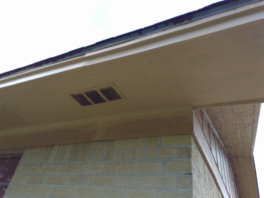Repaired rotten fascia board and rotten soffit.