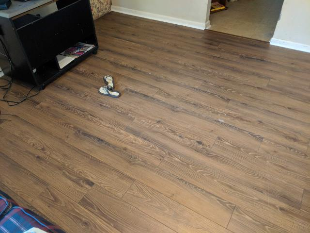 Installed new wood floor