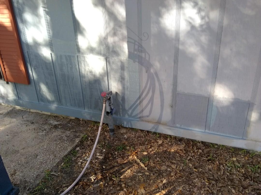Pensacola, FL - Repaired wood rot on T1-11 siding and soffit per WDO report.