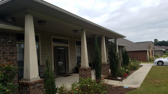 Pensacola, FL - Replaced and painted 4 Hardie columns on the front of the home.