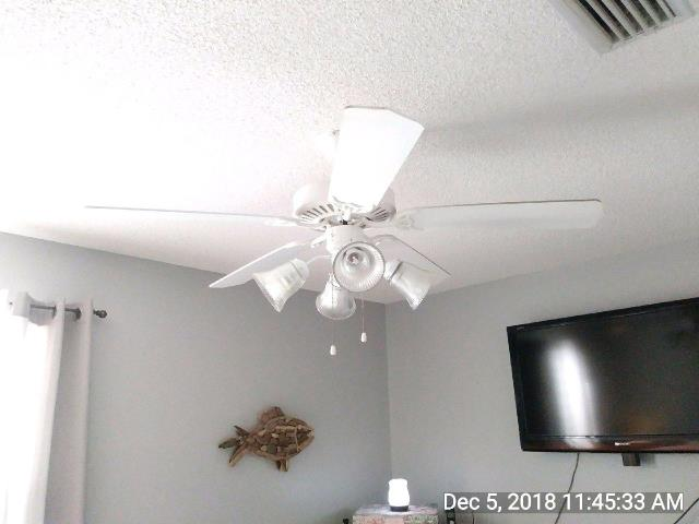 Replaced two ceiling fans.