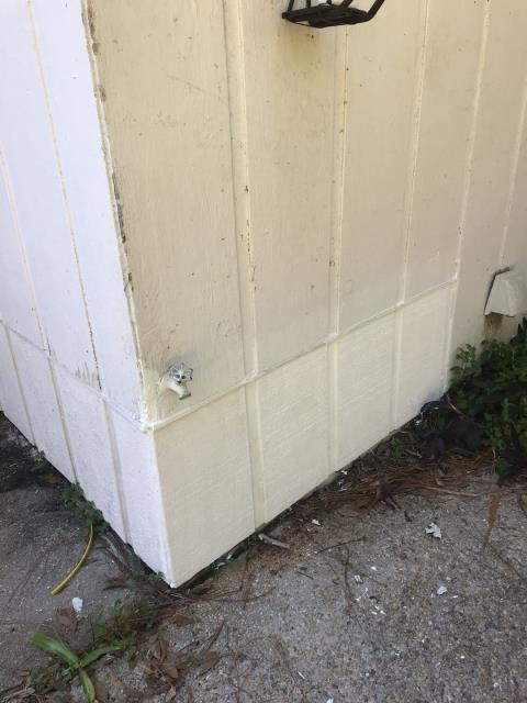 Pensacola, FL - Repaired wood rot on wood siding on the back of the house.