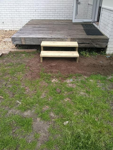Milton, FL - Replaced rotten steps on back porch.