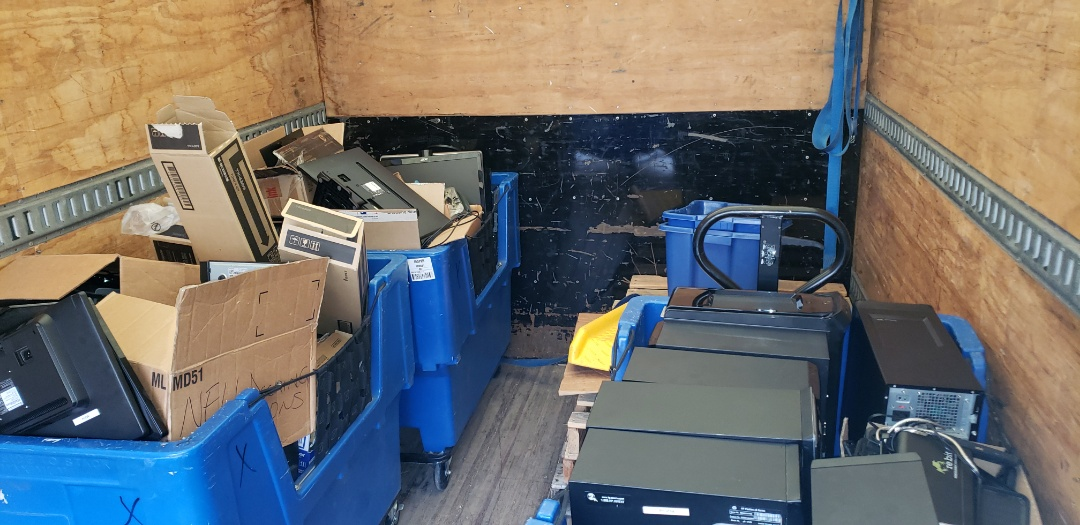 Fast and efficient removal of computers, laptops and it equipment to be recycled.