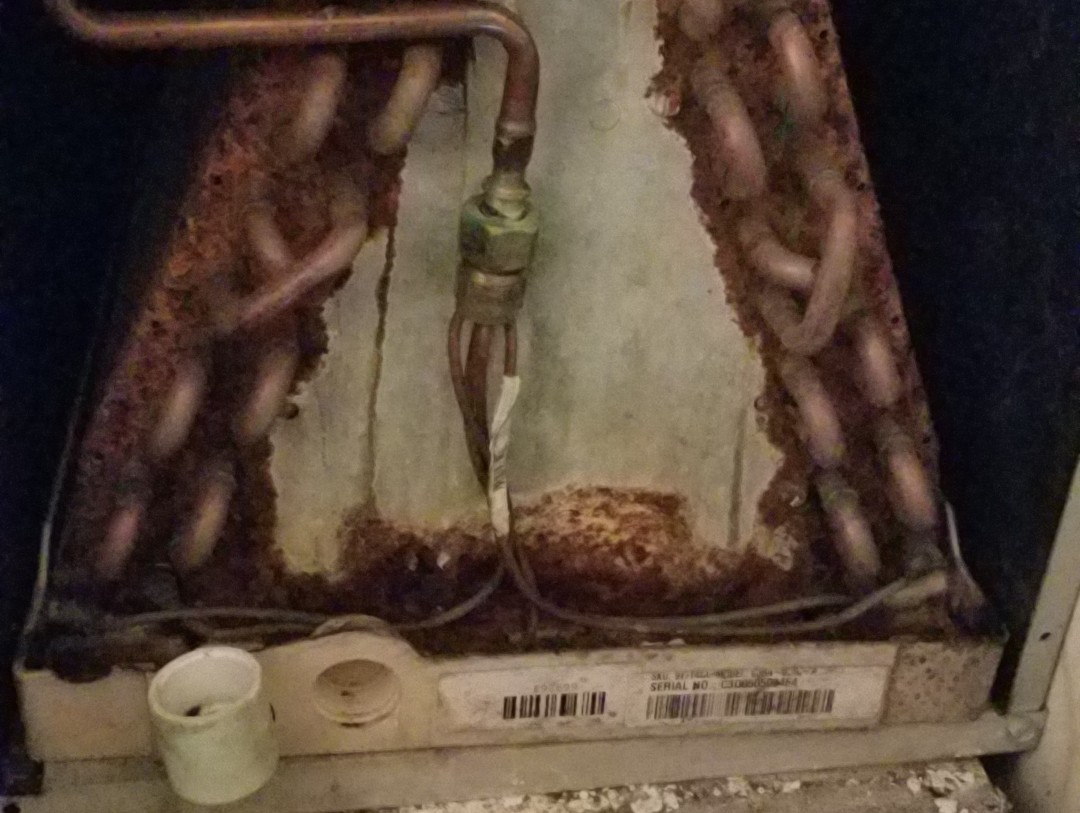 Raleigh, NC - Hvac maintenance contract, changing rusty trane coil