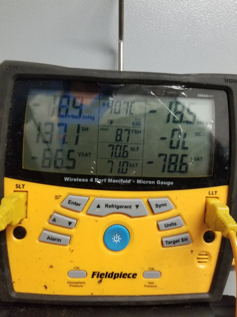 Raleigh, NC - Servicing a Trane gas pack, adding freon