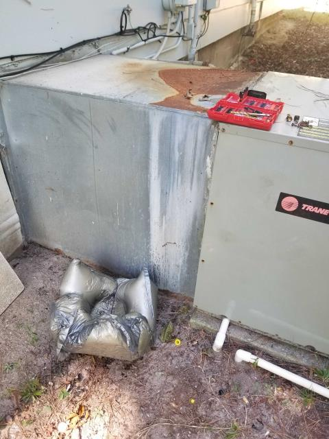 Raleigh, NC - replacing Trane heat pump package system