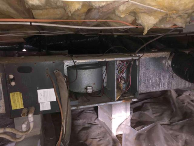 Clayton, NC - repairing old Trane heatpump,