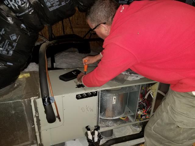 Wake Forest, NC - Repairing Goodman furnace, replacing flame sensor