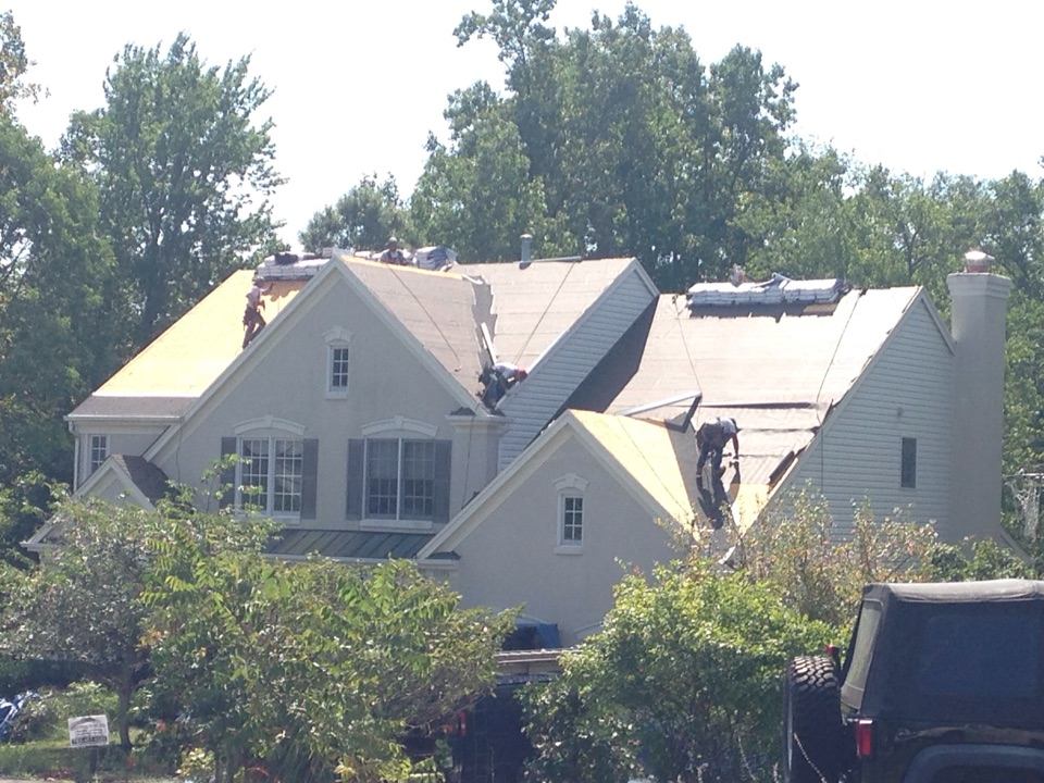 Chantilly, VA - New roof installation in progress in CHANTILLY VA