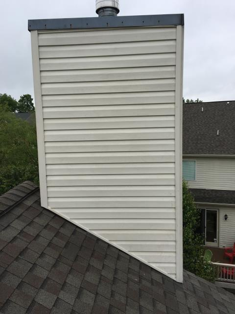 Sterling, VA - Replace siding on chimney
