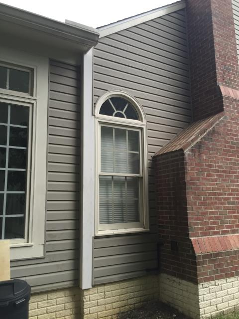 Chantilly, VA - Siding and trim repair completed to replace missing siding and trim due to wind damage