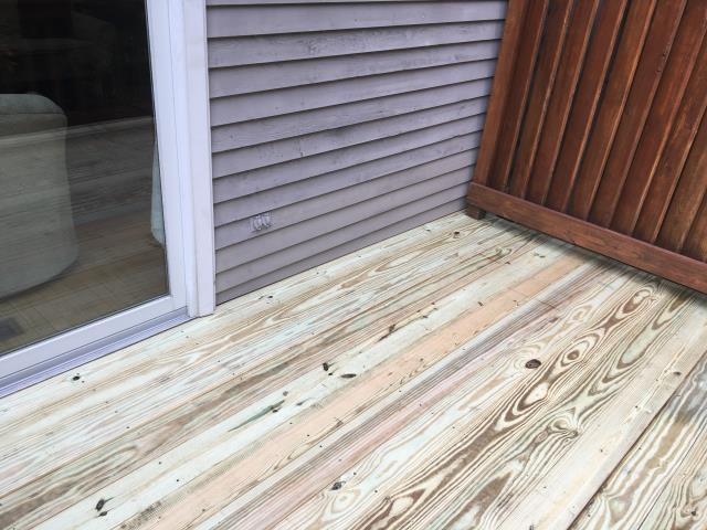 Reston, VA - Wood siding repair completed
