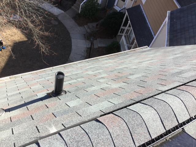 Reston, VA - Old roof replaced with new roof, CertainTeed XT 25 Slate Gray.