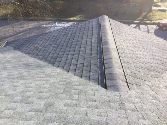 Burke, VA - Old leaking roof replaced with new GAF Timberline HD Lifetime shingles in the color Oyster Gray