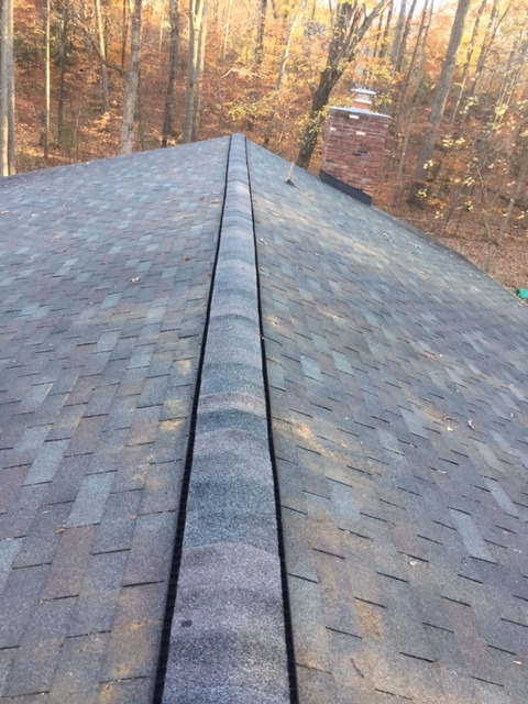 Manassas, VA - Ridge vent replaced due to wind damage.