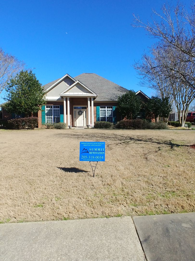 Montgomery, AL - Re roof completed in Montgomery. GAF Timberline HD Weatheredwood.
