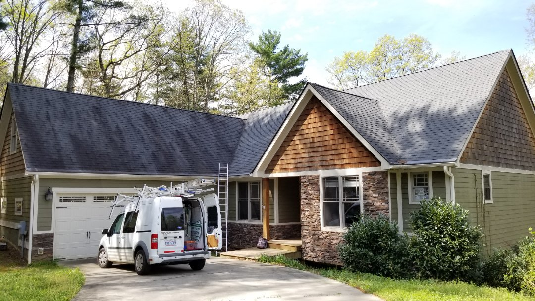Asheville, NC - Onsite with another roofing inspection. Independent Construction Services is a GAF Master Elite roofing contractor with all appropriate licenses and insurance to take care of your roofing, siding, guttering and painting (exterior and interior) needs. Centrally� located� in� Mills River,� NC,� we are able to service both the greater Asheville and Hendersonville areas. Call us today at (828) 808-8482